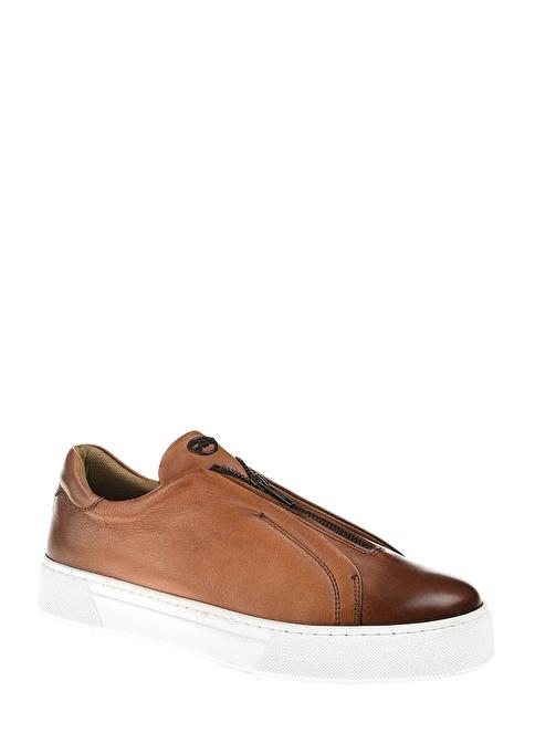 Divarese %100 Deri Fermuarlı Ayakkabı Taba